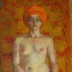 Priestess, oil on canvas, 101x66