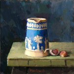 Jug with Garlic, oil on board, 30x30