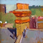 Brixton Chimney, oil on board, 20x20