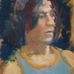 Andrew, oil on board, 30x20