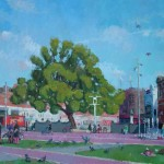 Windrush Square, Brixton, oil on canvas, 80x120 SOLD