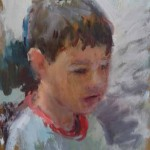 Young Boy, oil on board, 28x21.5 SOLD