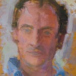Iain, oil on board, 28x21.5 SOLD