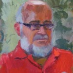 Errol, oil on board, 27x22