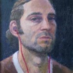 Self-portrait, oil on canvas, 35x24
