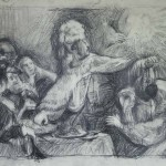 Belshazzar's Feast (after Rembrandt), pencil