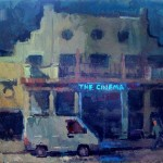 Hoxton Cinema, oil on canvas, SOLD