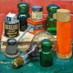 Thermos Still Life, Winner Phyllis Roberts Prize, oil on canvas, 50x50