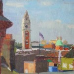 Brixton Town Hall, oil on board, 23x30